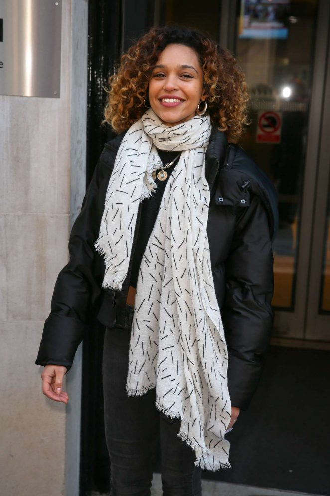 Izzy Bizu: Leaving BBC Radio 2 studios -06