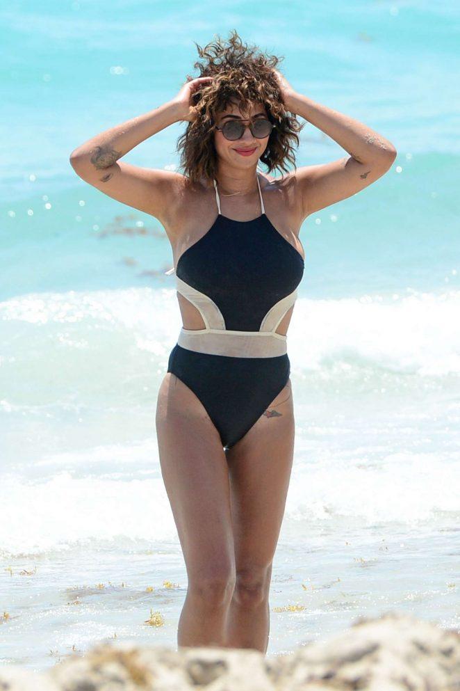 Jackie Cruz in Swimsuit on Miami Beach
