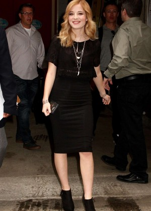 Jackie Evancho - Leaving 'Live with Kelly and Michael' in New York City