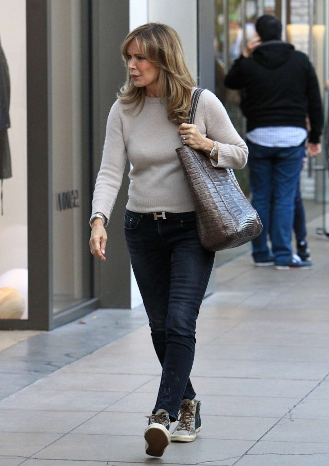Jaclyn Smith - Holiday shopping at The Grove in Hollywood
