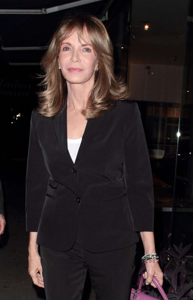 Jaclyn Smith - Leaving Madeo restaurant in Hollywood