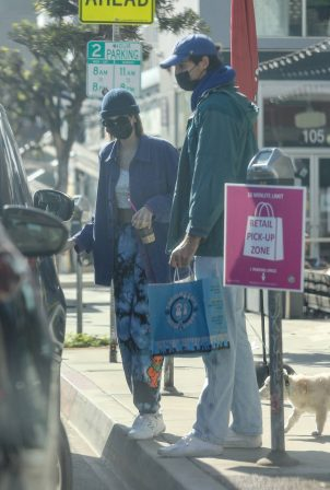 Jacob Elordi and Kaia Gerber - Seen picking up dog food in West Hollywood