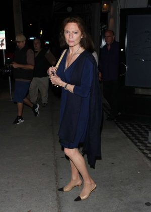 Jacqueline Bisset at Craig's restaurant in West Hollywood