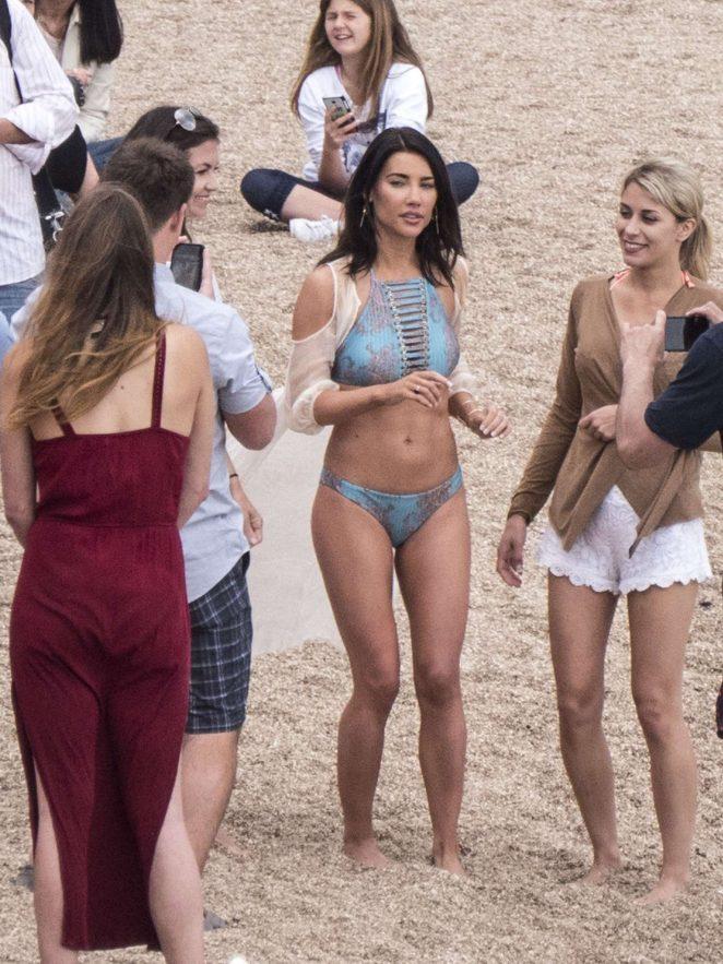 Jacqueline MacInnes Wood in Bikini Filming The Bold and The Beautiful -05