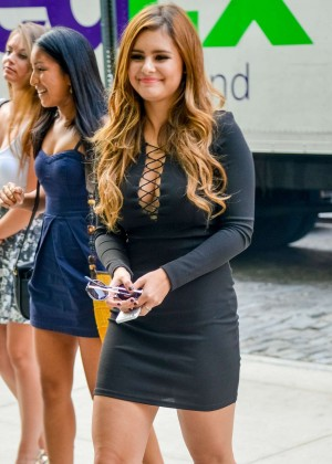 Jacquie Lee in Mini Dress out in NY