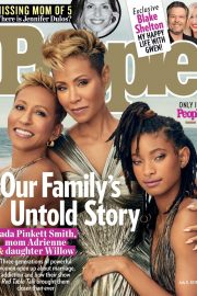 Jada Pinkett and Willow Smith and Adrienne Banfield Norris - People Magazine (July 2019)