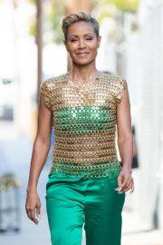 Jada Pinkett Smith - Arriving at Jimmy Kimmel Live! in Los Angeles