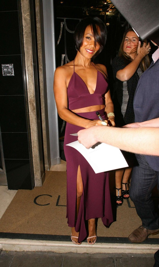 Jada Pinkett Smith at Claridge's Hotel in London