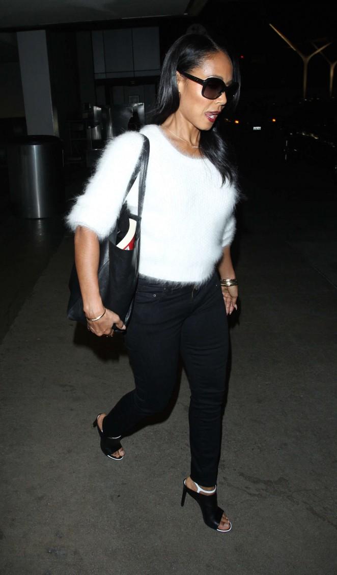 Jada Pinkett Smith at LAX airport in LA