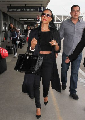 Jada Pinkett Smith at Los Angeles International Airport