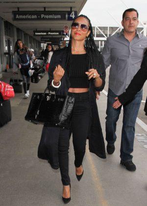 Jada Pinkett Smith at Los Angeles International Airport