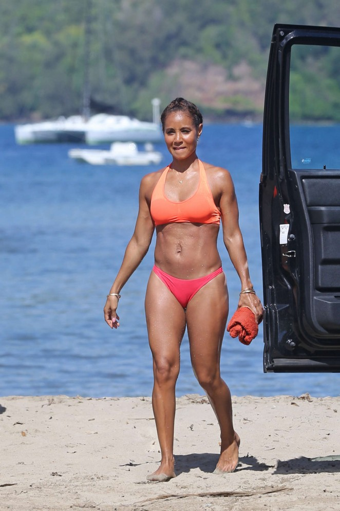 jada pinkett smith in red bikini 02 gotceleb