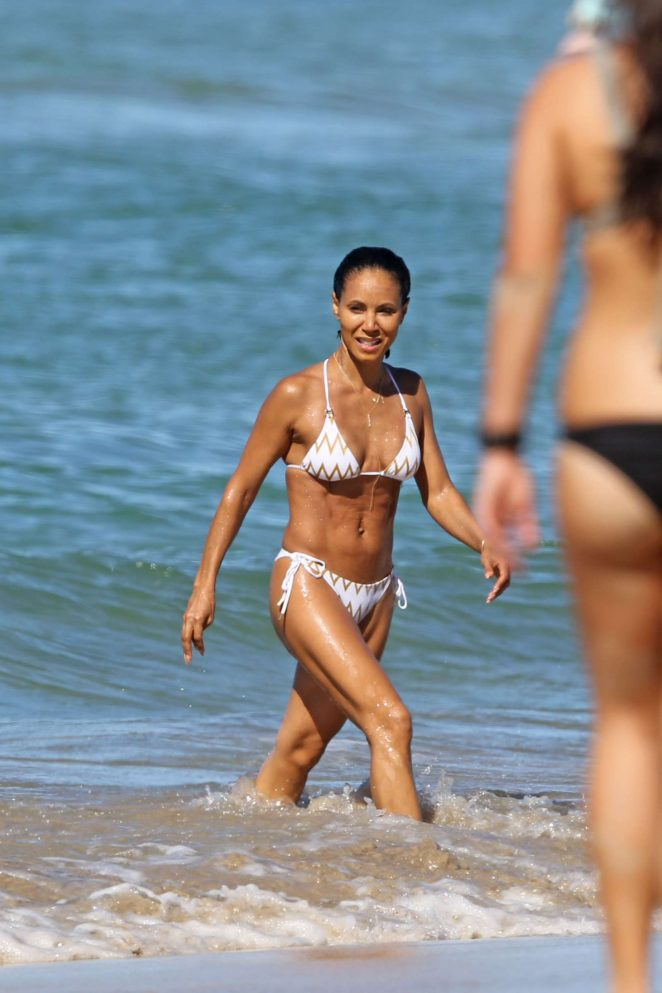 Jada Pinkett Smith in White Bikini 2017 -21 - GotCeleb