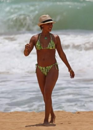 Jada Pinkett Smith in Green Bikini in Hawaii