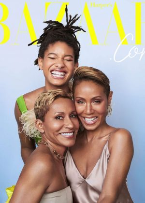 Jada Pinkett Smith, Willow Smith and Adrienne Banfield-Norris - Harper's Bazaar US (December 2018)