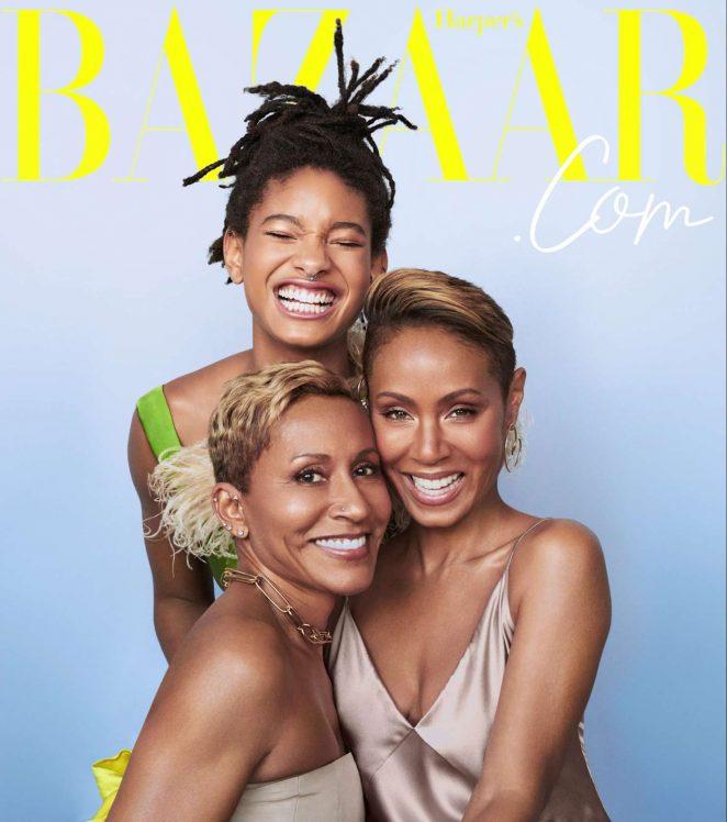 Jada Pinkett Smith, Willow Smith and Adrienne Banfield-Norris – Harper's Bazaar US (December 2018)