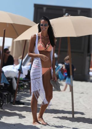 Jade Lagardere in Bikini on Miami Beach