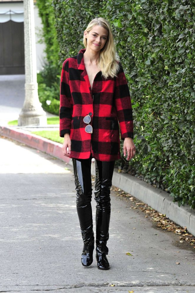 Jaime King in Leather Pants -15