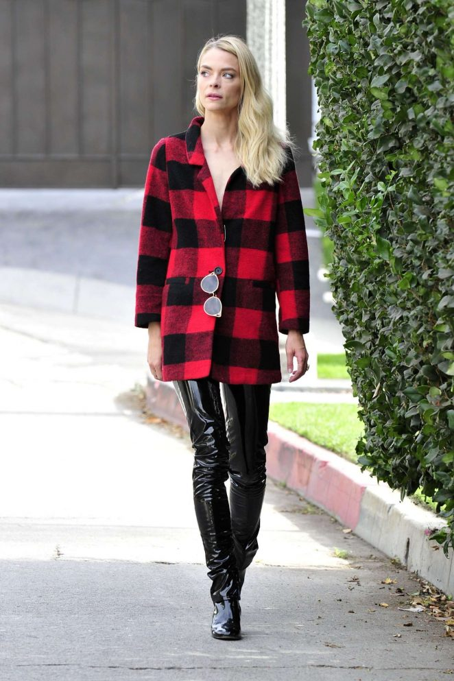 Jaime King in Leather Pants -18