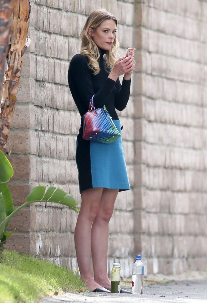Jaime King in Mini Dress -02
