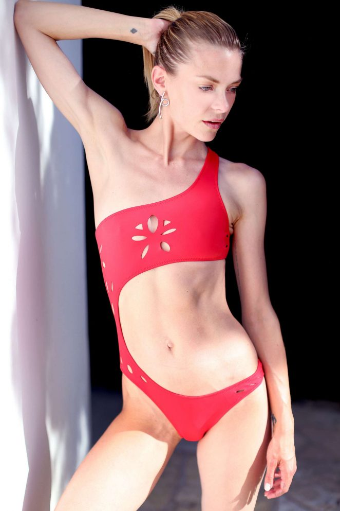 Jaime King in Red Bikni - Photoshoot for GiGiC Bikinis in Hollywood