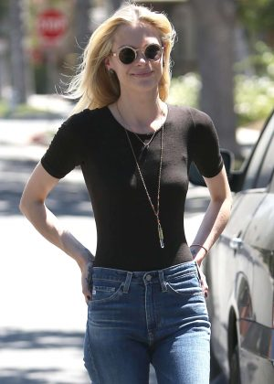 Jaime King in Tight Jeans Out in Beverly Hills