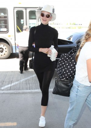 Jaime King in Tights at LAX Airport in LA
