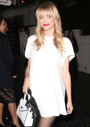 Jaime King in White Mini Dress at Chateau Marmont in West Hollywood
