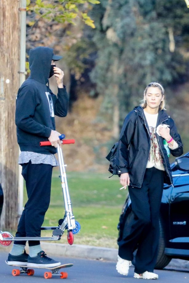 Jaime King - Seen at the park in Los Angeles