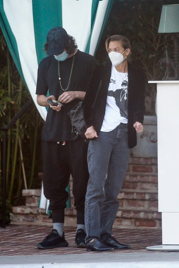 Jaime King - With her boyfriend Sennett Devermont at San Vicente Bungalows in West Hollywood