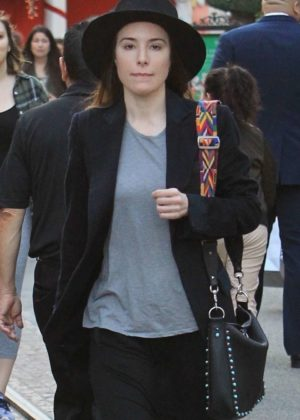 Jaime Murray - Christmas shopping at The Grove in West Hollywood