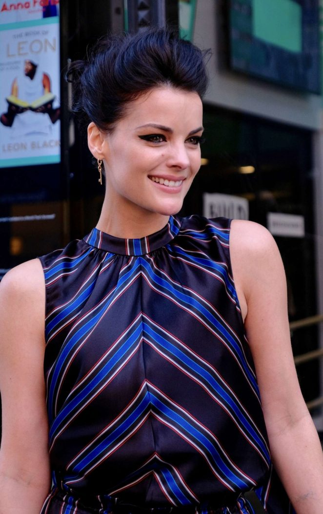 Jaimie Alexander - Arrives at AOLBuild studios in New York City