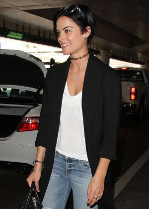 Jaimie Alexander Arrives at Los Angeles International Airport