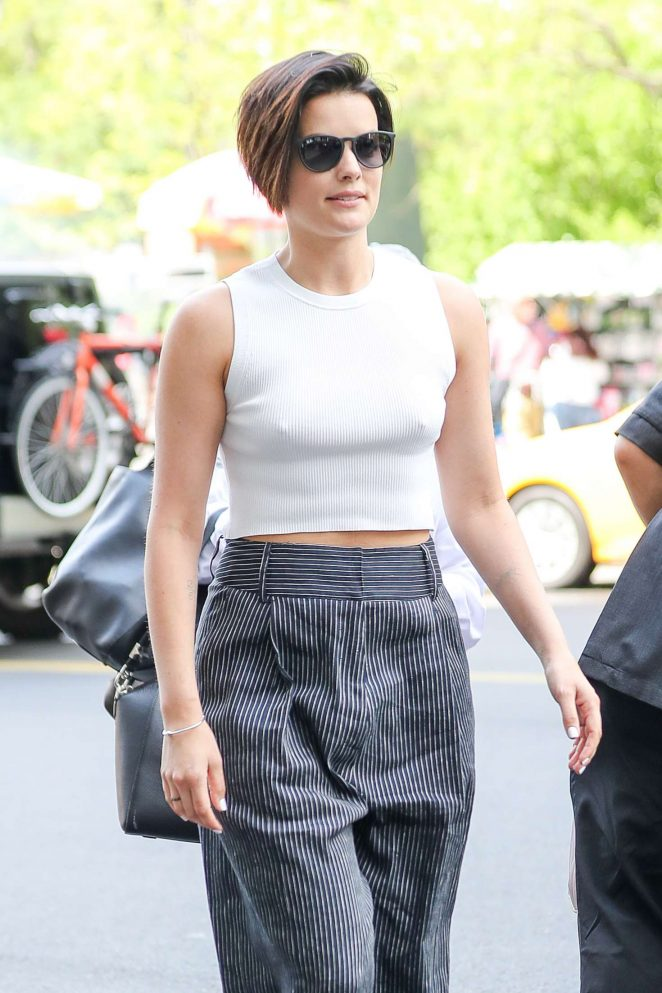 Jaimie Alexander - Arriving at a Hotel in New York City