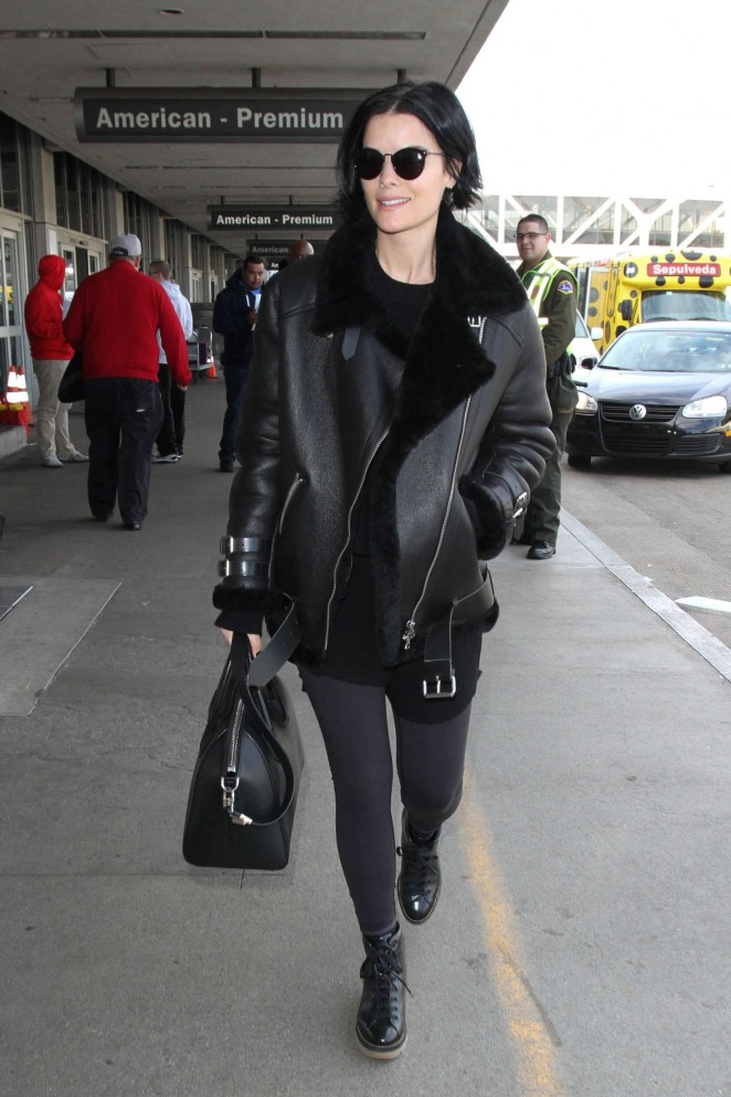 Jaimie Alexander - Arriving at LAX Airport in LA