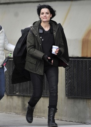 Jaimie Alexander - Filming 'Blindspot' in Brooklyn