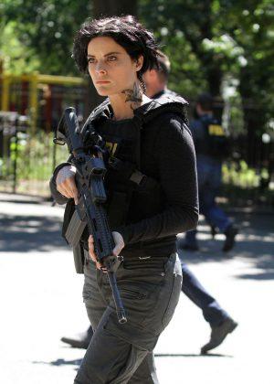 Jaimie Alexander Filming on the set of 'Blindspot' in New York City