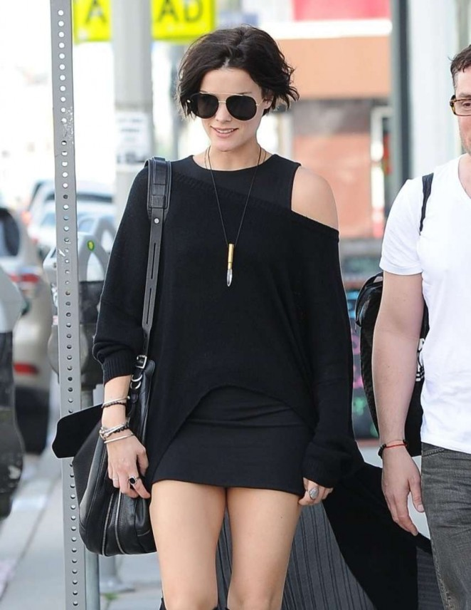 Jaimie Alexander in Mini Dress out in West Hollywood