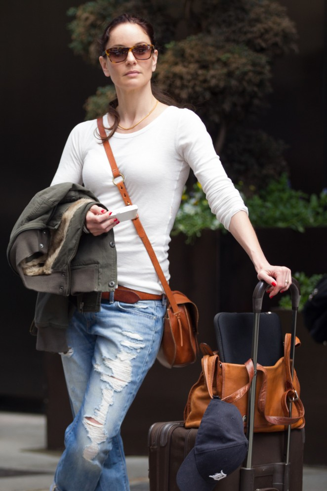 Jaimie Alexander in Jeans Leaving her Hotel in Manhattan