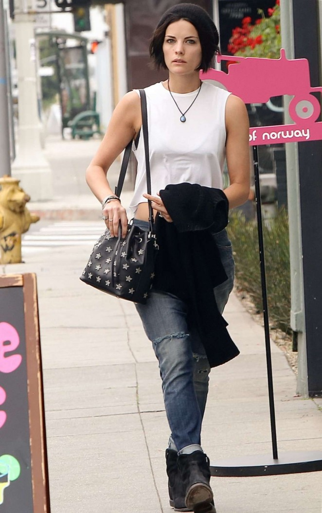 Jaimie Alexander in Jeans Out in Los Angeles