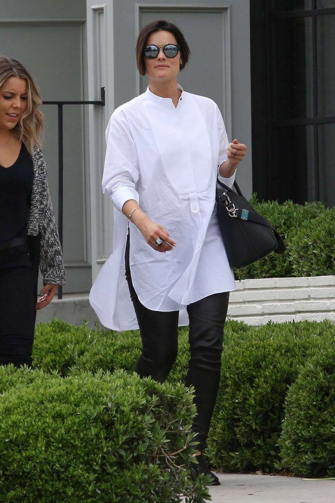 Jaimie Alexander out for lunch at Gracias Madre in West Hollywood