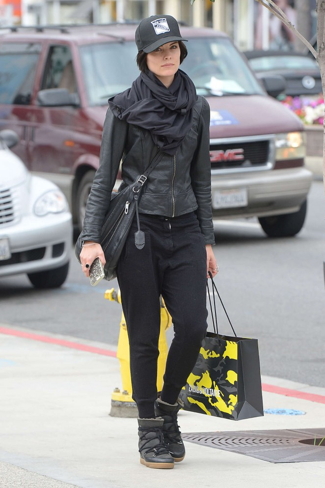 Jaimie Alexander - Shopping at Zadig and Voltaire