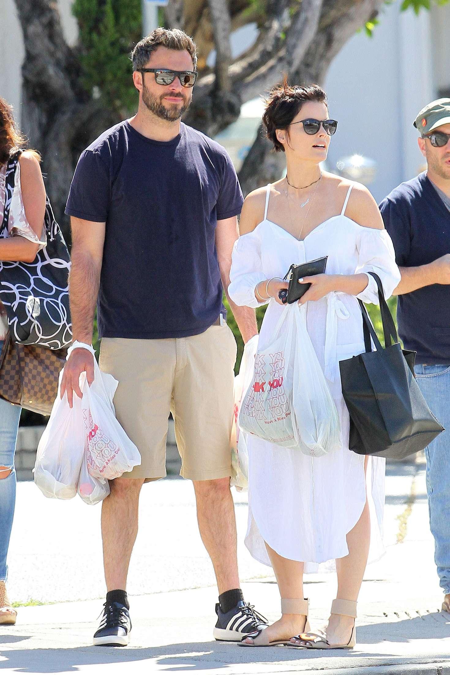 Jaimie Alexander with her boyfriend in Los Angeles  Jaimie-Alexander-with-her-