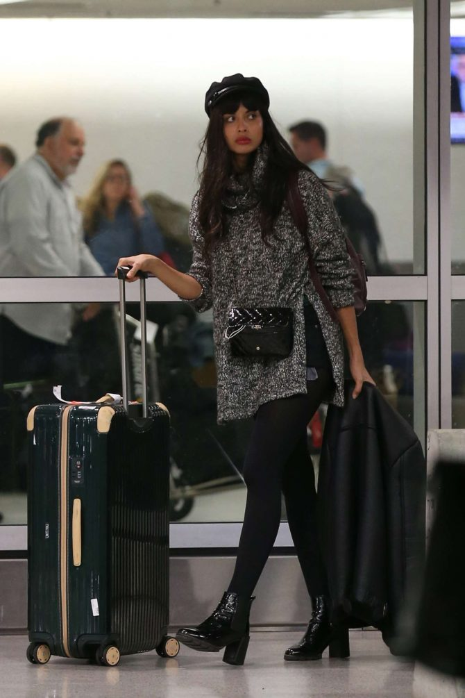 Jameela Jamil – Arrives at Airport in Miami