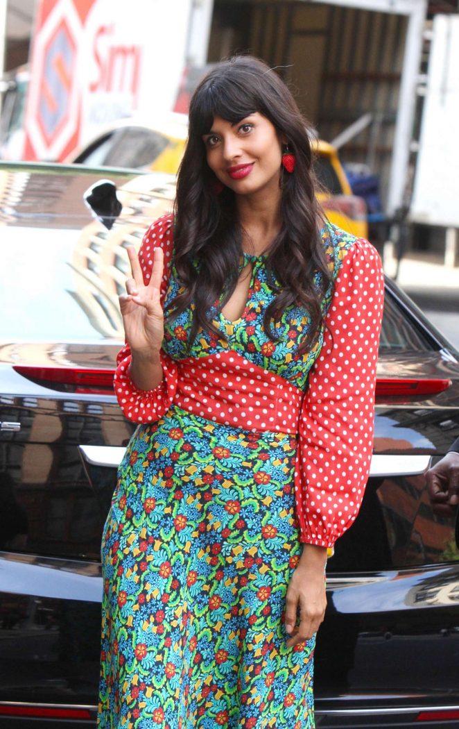 Jameela Jamil – Arrives at AOL Build Speaker Series in New York