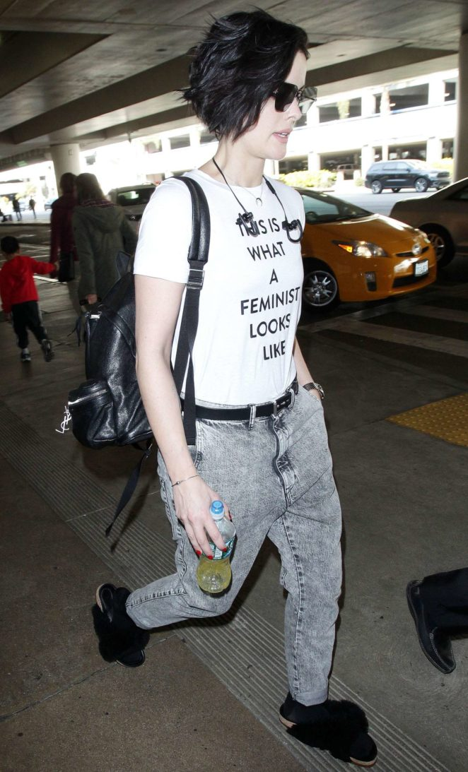 Jamie Alexander: Arrives at the LAX International Airport -01