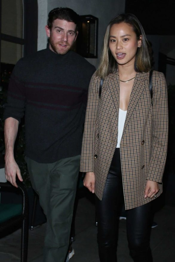 Jamie Chung and Bryan Greenberg at Madeo Restaurant in Beverly Hills