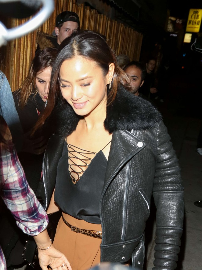 Jamie Chung Arrives at Mr. Nice Guy in West Hollywood