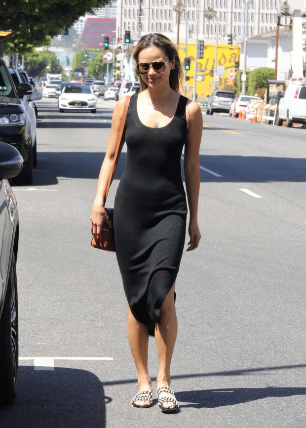 Jamie Chung in Black Long Dress - Out in LA