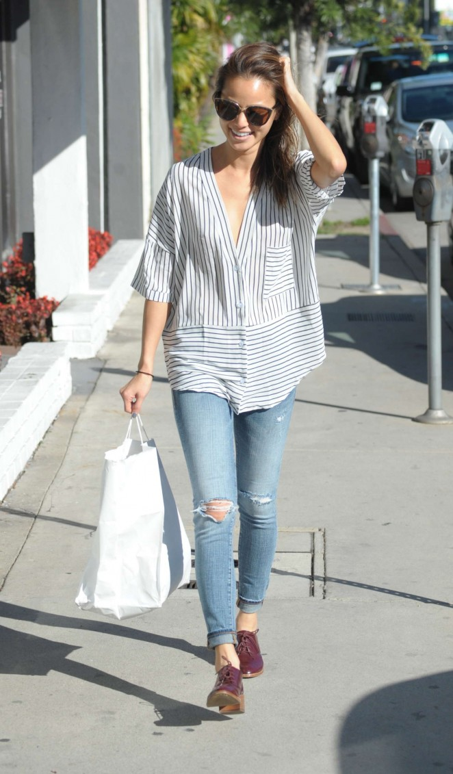 Jamie Chung in Ripped Jeans - Out and about in LA